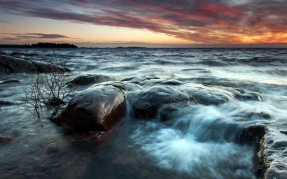 море, пляж, закат, страница, flickr, природа, waves, search,
