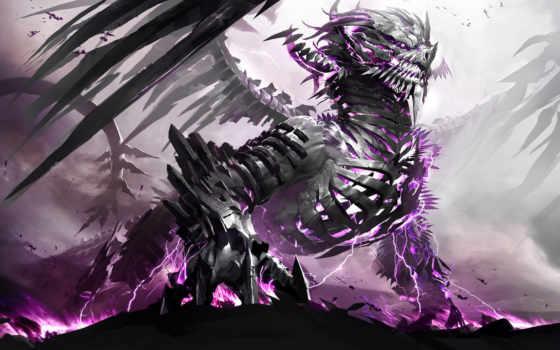 дракон, остов, fantasy, свет, телефон, драконы,