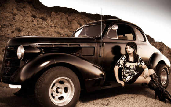 car, cars, vintage, девушка, girls, classic, looking, фото, muscle,