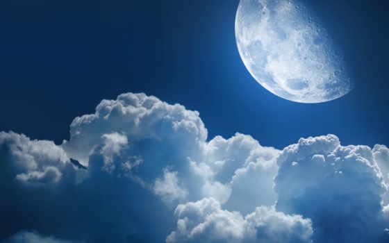 clouds, moon Фон № 587 разрешение 2560x1600