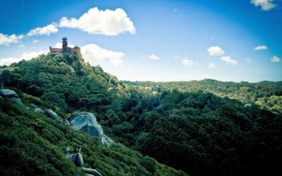 замок, pena, природа, изображение, скале, castles, download, pictures, awesome, palace, похожие, national,