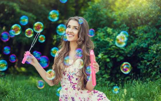 мыльные, пузыри, растровый, клипарт, отдушка, мл, мыло, bubble, бреусова, девушка,