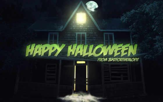 ночь, праздник, halloween, mysticism, картинка, вектор, луна,