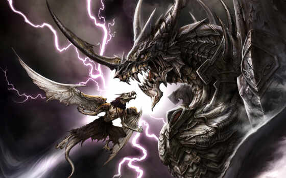 драконы, бой, битва, свой, совершенно, дракон,