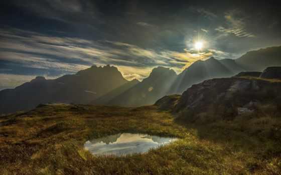 sunbeam, free, гора, качество, high, brook, gary, облако,