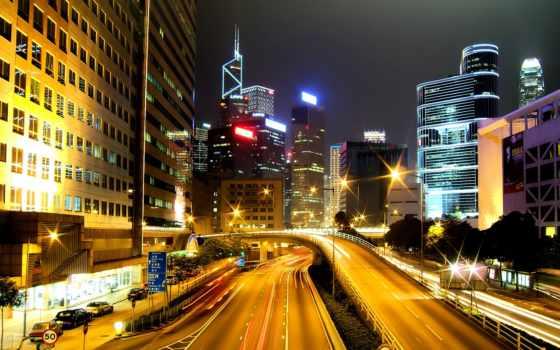 город, ночь, города, категории, ноутбука,