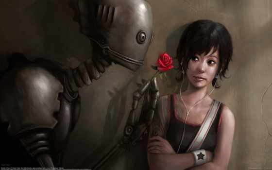 robot, love, компьютер, девушка, art, об, more, rudy, faber,