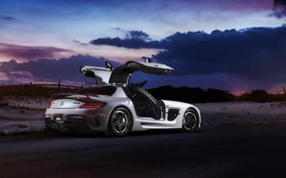 mercedes, sls, amg, iphone, серия, black, benz, coupe,