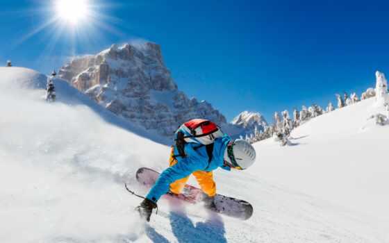 спорт, снег, sporty, sun, сноуборд, мужчина