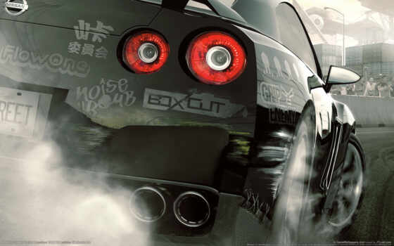 need, speed, prostreet, wmr, трасса, фары, games, ниссан, download, game,