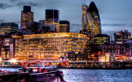 london, река, здания