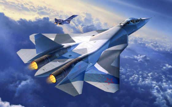 pak-fa, t-50,, изображение, авиация, истребитель, sukhoi, promising, fifth,