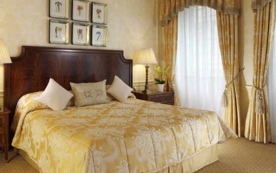 спальни, занавески, шторы