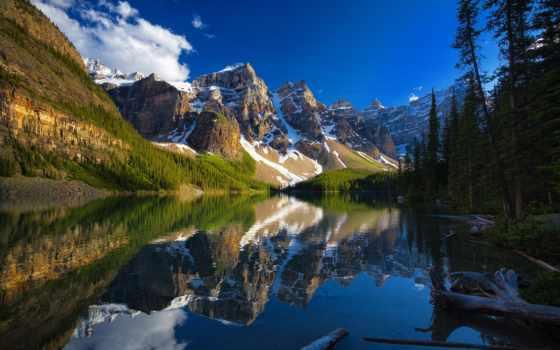 озеро, moraine, канада, banff, альберта, national, park, долина, канадский, ten,