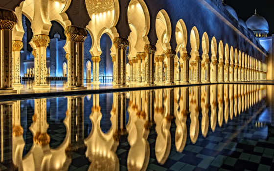 mosque, grand, zayed, sheikh, abu, dhabi, uae, даби,