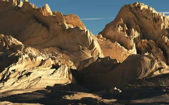 горы, пустынные, art, сквозь, artists, deviantart,