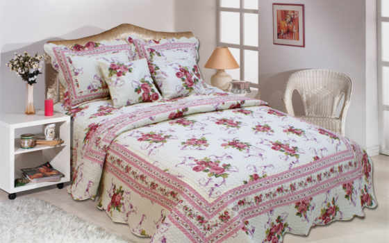 yatak, örtüsü, casa