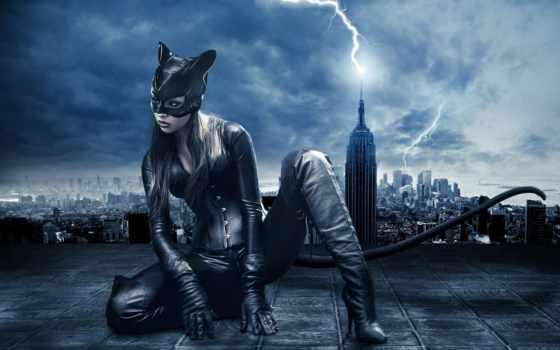 женщина, кот, catwoman,