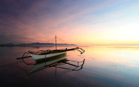 лодка на воде Фон № 148923 разрешение 1920x1080