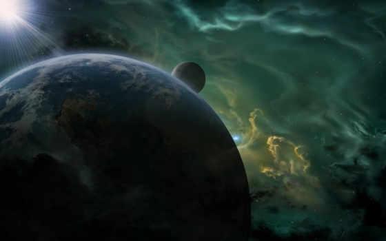 космос, art, star, planet, картинка, nebula, спутник,