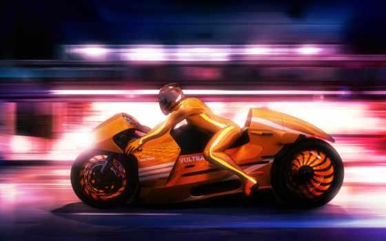 futuristic, desktop, vultran, concept, bike, машина, rendering, you,