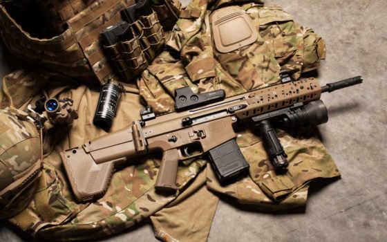 винтовка, шрам, штурмовая, оружие, камуфляж