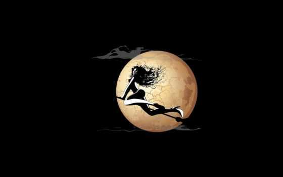 ведьма, луна