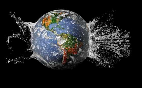 water, land, planet