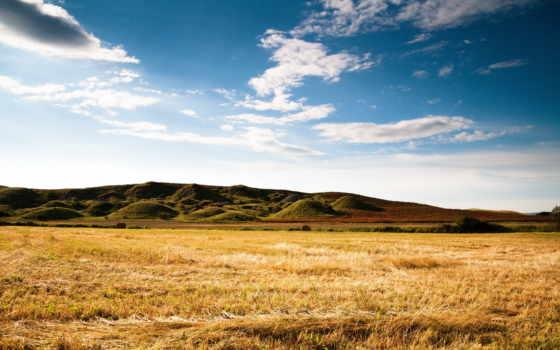 поле, горы, природа