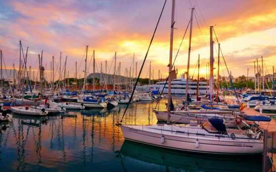 испания, барселона, яхты