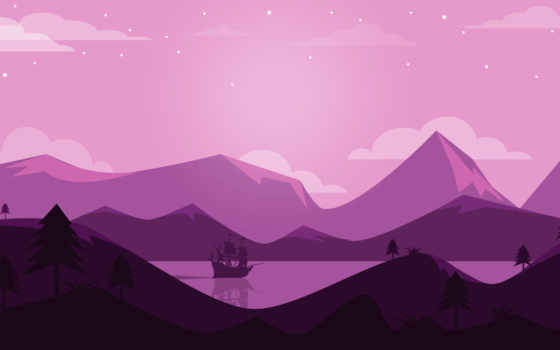 landscape, purple, minimal, ultrahd, ultra,