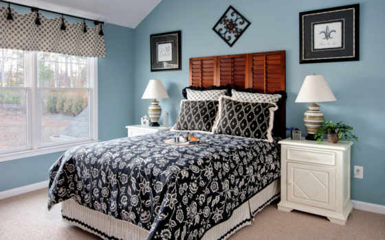 спальня, интерьер Фон № 18089 разрешение 1920x1280