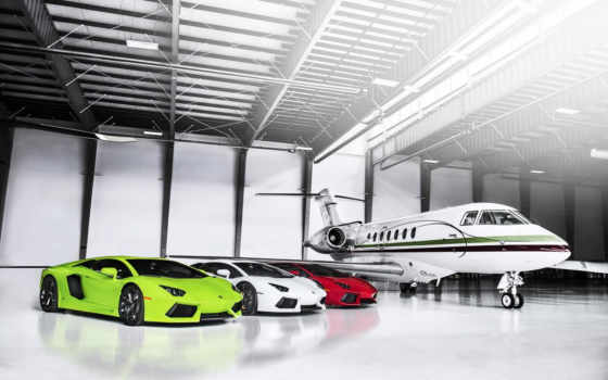 lamborghini, aventador, white, зелёный, supercars, red, plane, pictures,