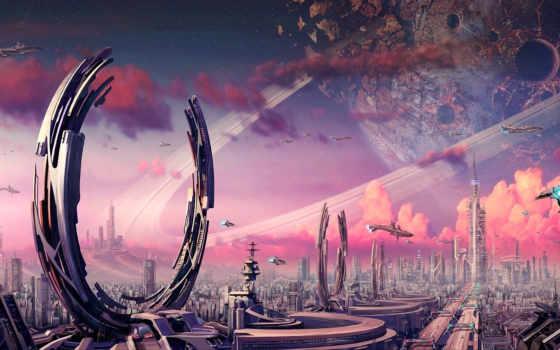 art, фантастика, planet
