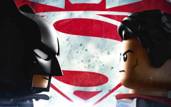 batman, superman, lego, рассвет, justice, плакат, posters, мар,