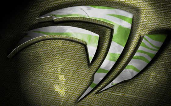 nvidia, logo, бесплатные, зелёный, windows,