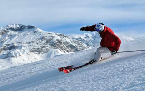 лыжи, горные