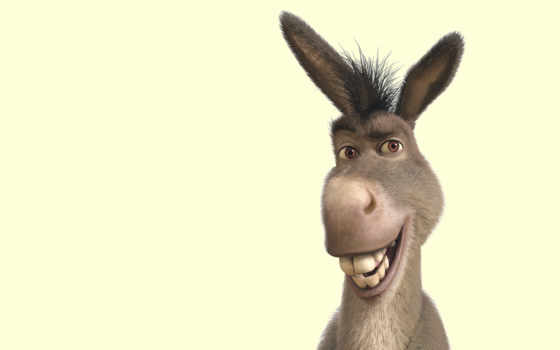 donkey, шрэк, улыбка
