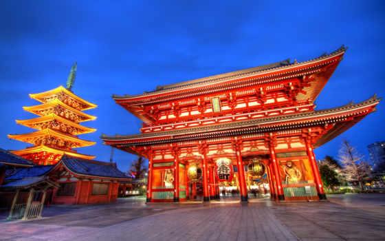 храм, asakusa, sensoji