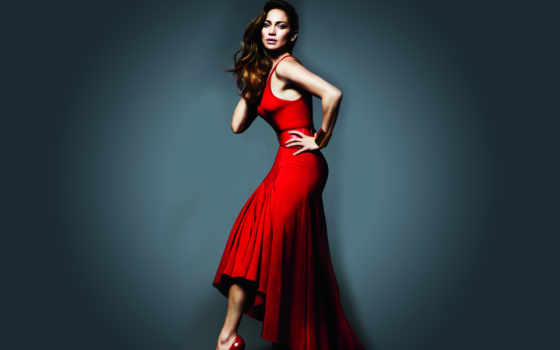 vestido, rojo, que