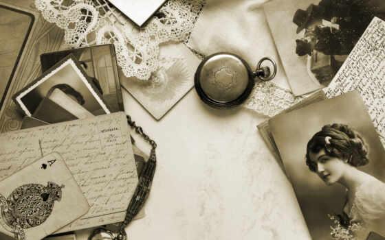 vintage, фотографий, sepia, бумага, ретро, письма, старая, ace, текстура,