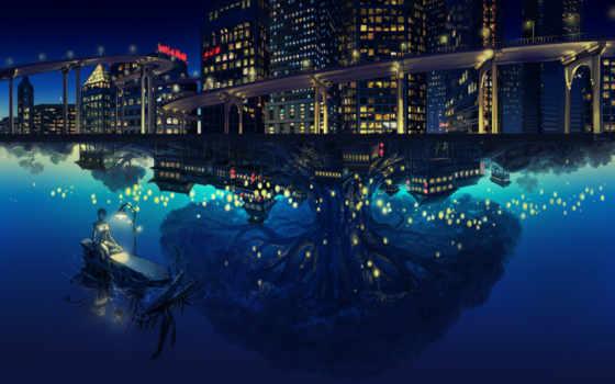 anime, robot, роботы, art, городе, ночном, дневнике, город, заказать,
