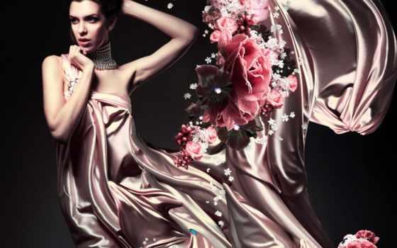 платье, платьях, women, красивая, девушка, растровый, клипарт, ветру, женщина, devushki, мб,