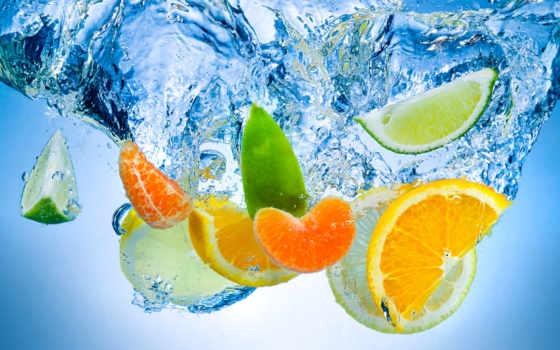 water, воде, дольки, апельсина, lima, мандарина, подводные, капли, фотообои, апельсины, лайм,