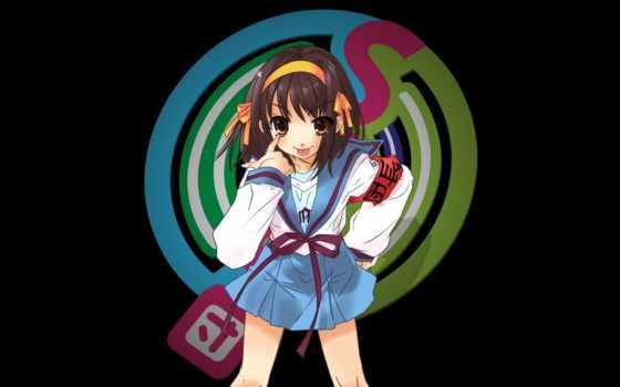 haruhi, suzumiya, тоска, pinterest, anime, pin, free,