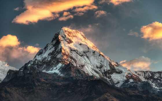 gora, everest, fon, verhushka, снежный, edge, солнце, зеркало, высота, горный, dzhomolungm