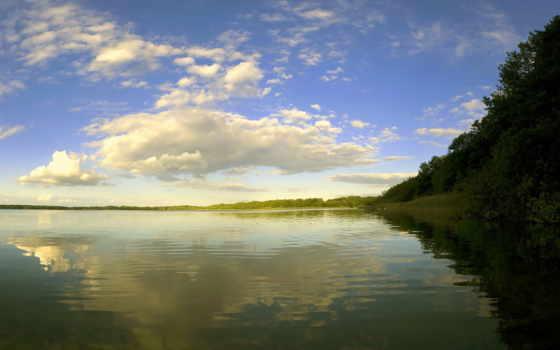 рассвет, со, рекой, река, янв, берегу, природа, тумане, закат, красивые,