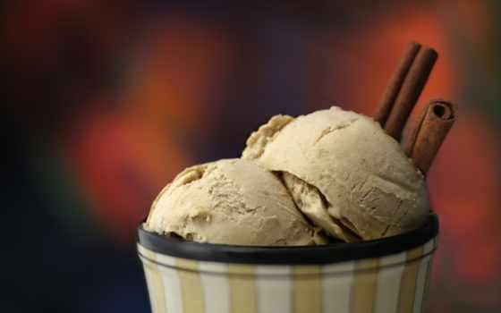 мороженое, десерт, клубника,