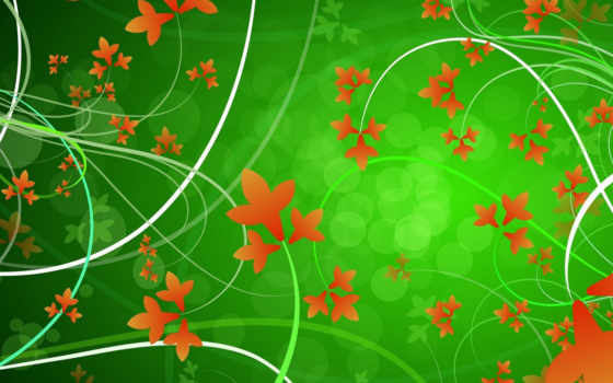 desktop, цветы, ipad, графика, background, download, image, green, psd, flowers, autumn, leaves, vector, vectors,