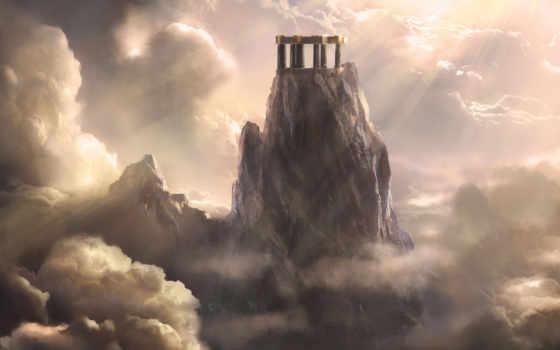 олимп, боги, бе, гора, mount, богов, инопланетянами, mythology, олимпийские, mogli,